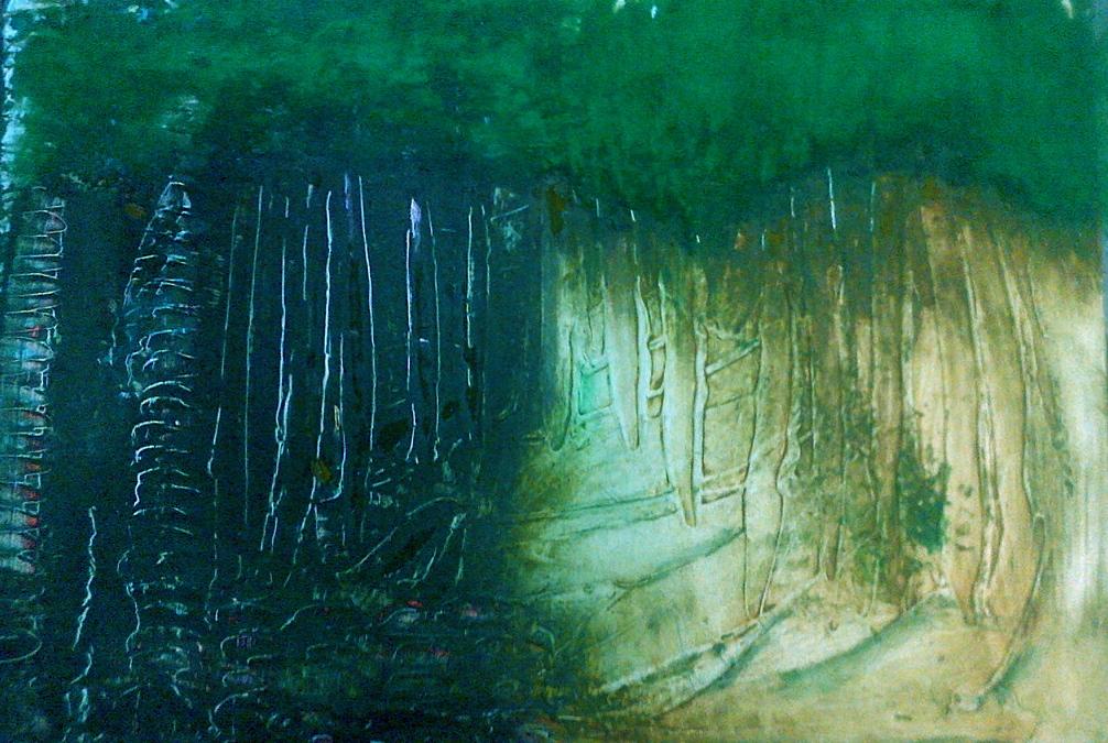 RAIN, WOODS, GREEN ,TREES, WATERFALLS, BLUE, RAIN AGAIN…..