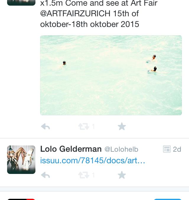 ART FAIR ZURICH , looking forward!