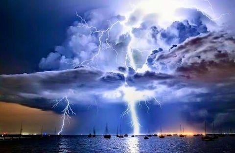 Stormy weather in Ibiza