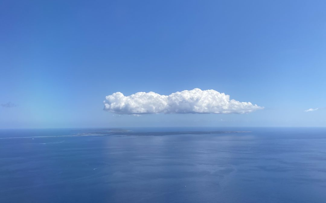 cloud over Formentera